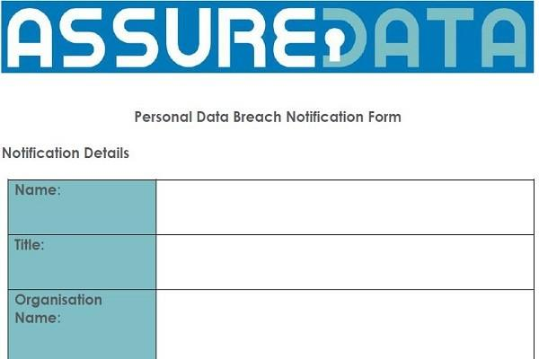 Data Breach Notification Form