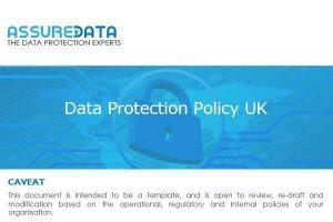Data Protection Policy UK Template