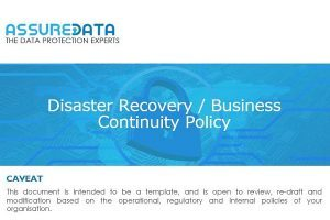 Disaster Recovery & Business Continuity Template