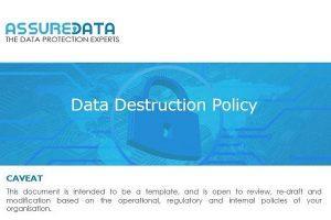 Data Destruction Template