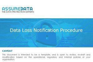 Data Loss Notification Template