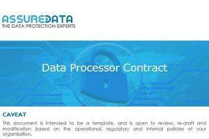 Data Processor Contract Template