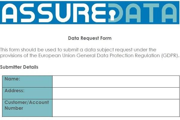 Data Request Form