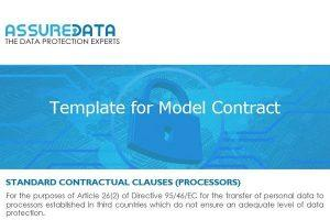 Model Contract Template