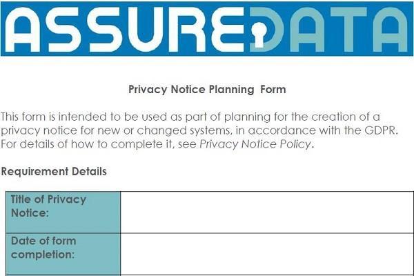 Privacy Notice Form