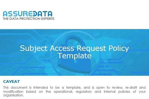 Subject Access Request Template