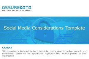 Social Media Considerations Template
